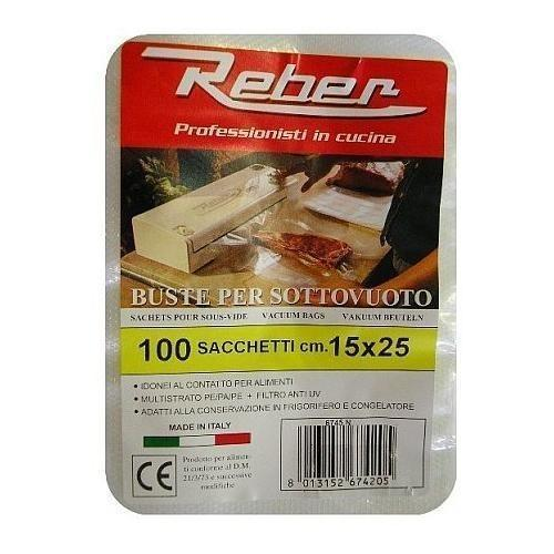 Reber Vacuum Bags / 15 x 25 CM / 100 Bags-Small Appliances,Specialty Food Prep-Reber-Consiglio's Kitchenware-USA