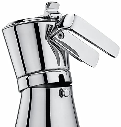 Giannina 6 Cup Restyled Version Stainless Steel Stove Top Espresso Maker - Made in Italy with Patented Locking Handle Espresso Maker