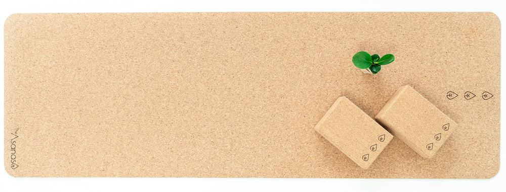 cork yoga mat, cork yoga blocks