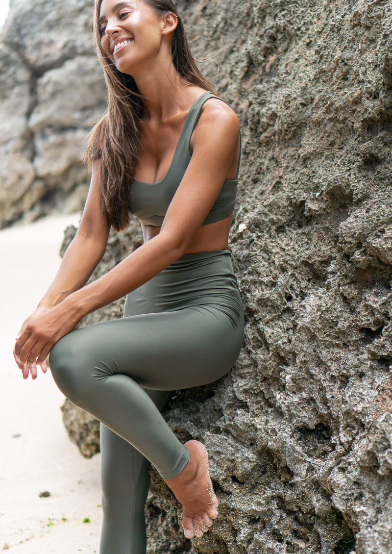 Ecofriendly sustainable activewear recycled regenerated plastic waste econyl