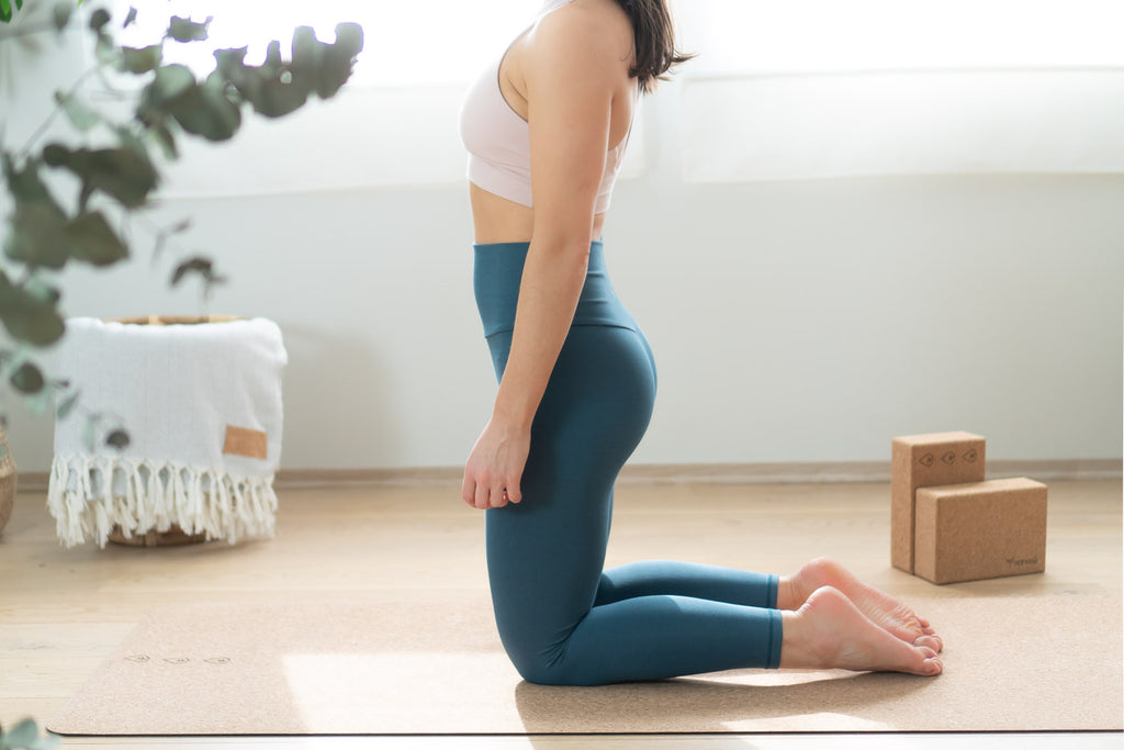home yoga practice with cork yoga mat
