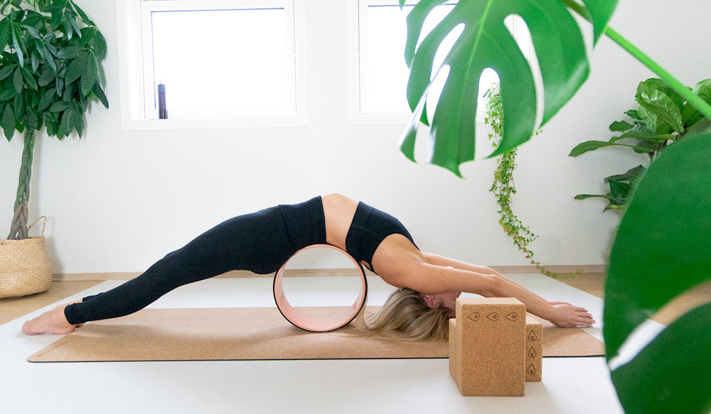 how to use the cork yoga wheel for backbends