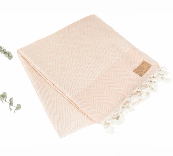 Cotton Yoga Blanket Rose