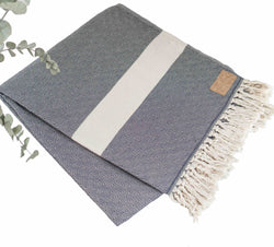 Cotton Yoga Blanket Navy
