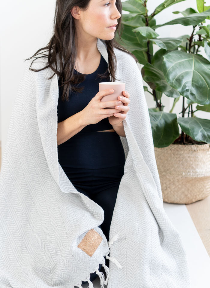 cotton yoga blanket