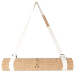 carrying strap yoga mat, cork yoga mat, cork mat, yoga mat