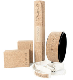 -25% Cork Yoga Super Bundle (Black Yoga Wheel)