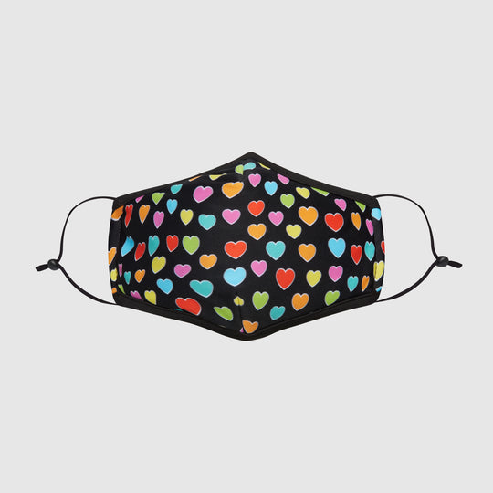 The L-Air Mask - Multi Color Hearts