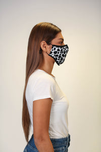 The Protector Mask - Monochrome Cheetah