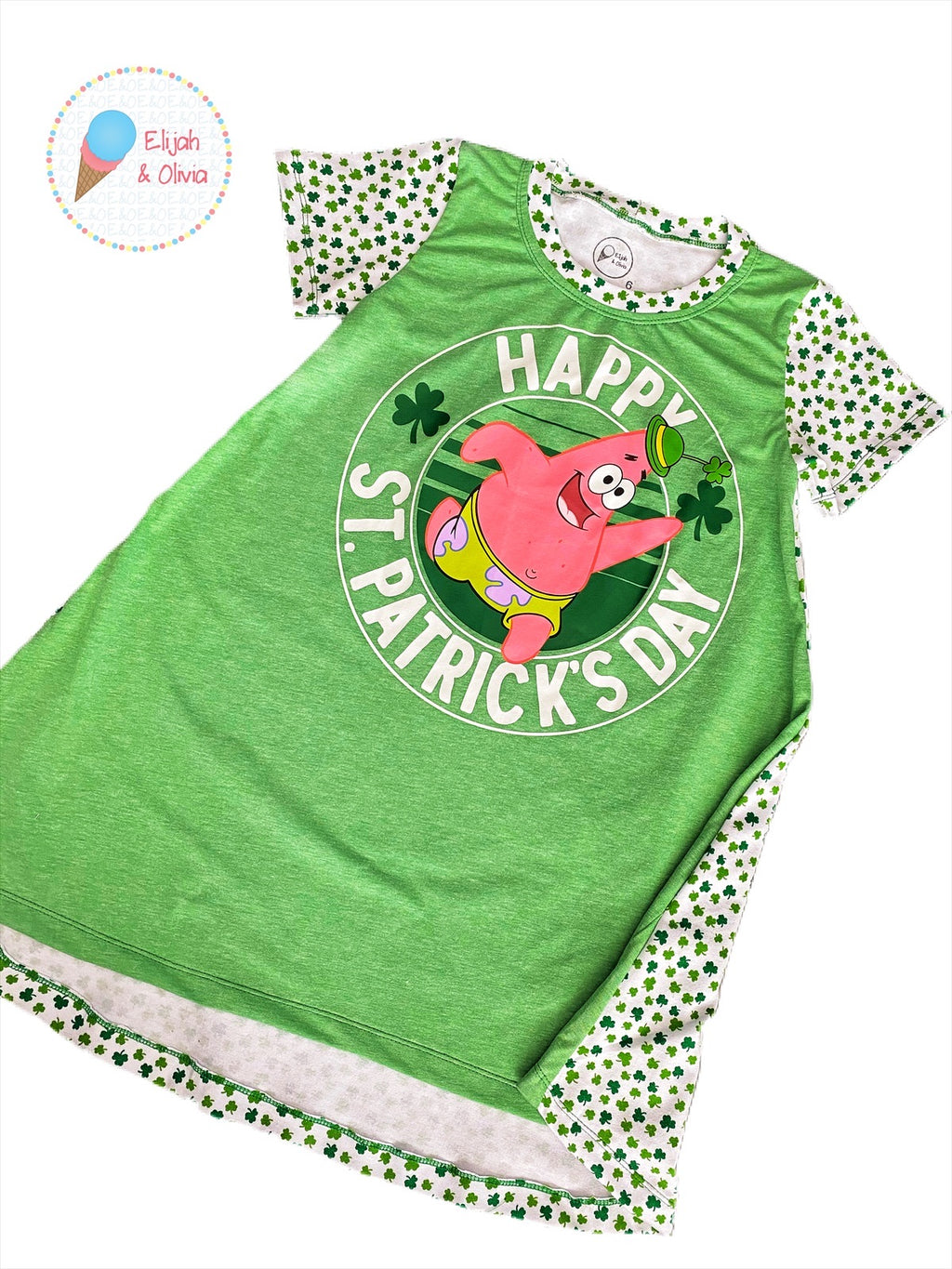 T-Shirt Dress: Happy St. Patrick's Day