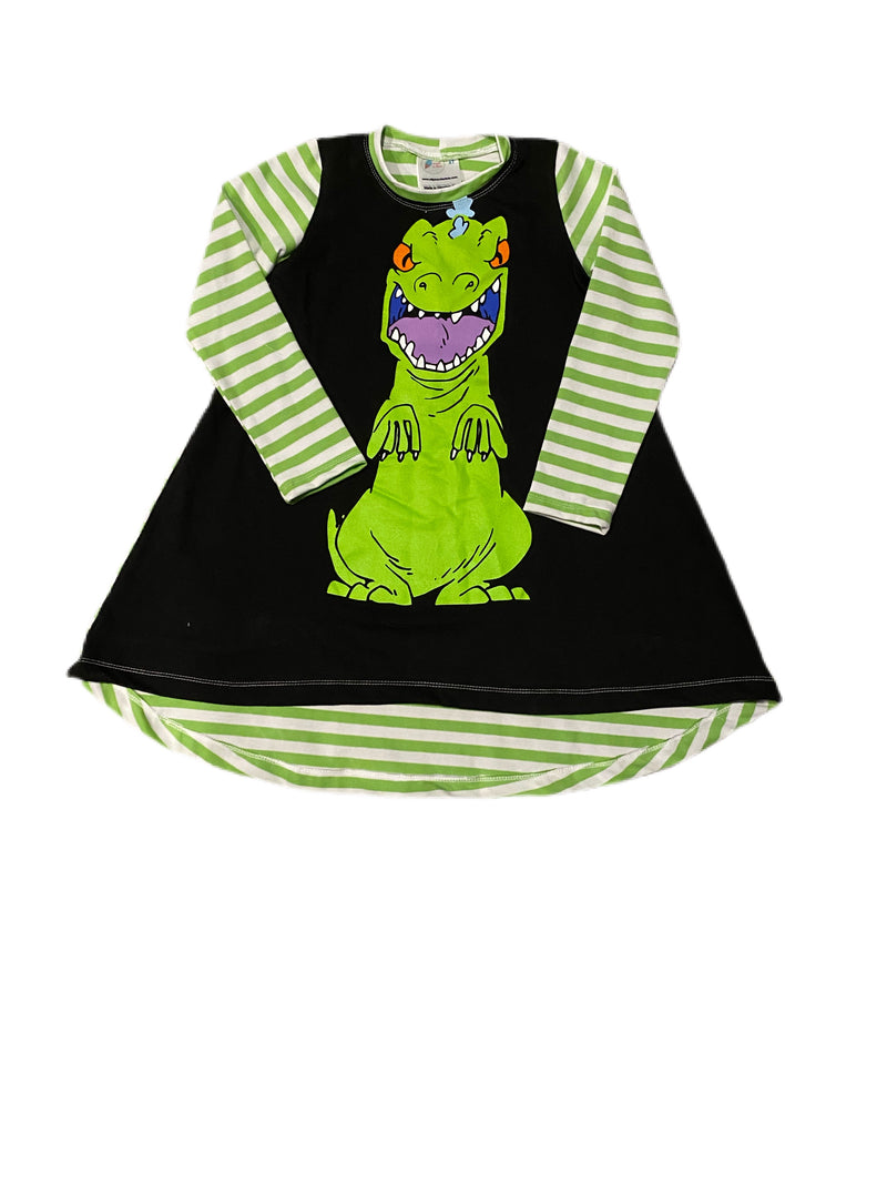T-shirt Dress- Reptar