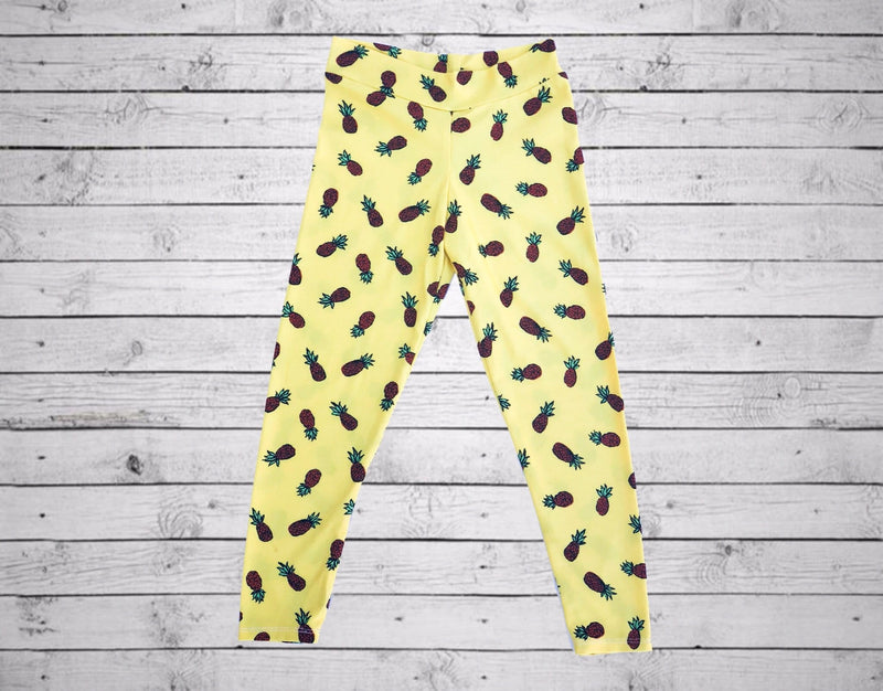 Maya Legging- Yellow Pineapple
