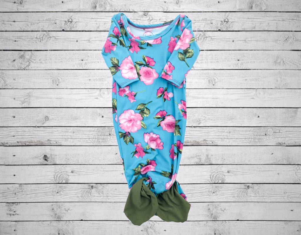 Cameron Mermaid Sack-Blue Floral