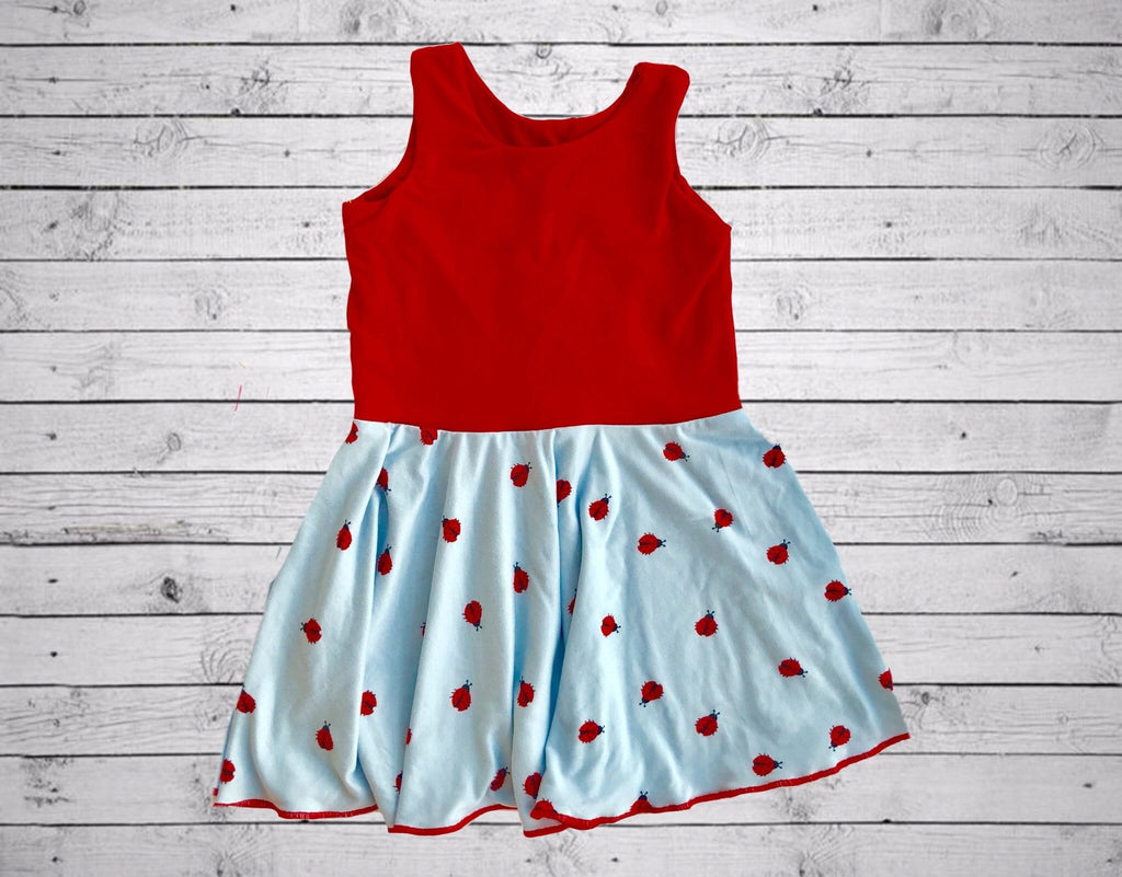 Chloe Playdate Dress- Lady Bugs & Red