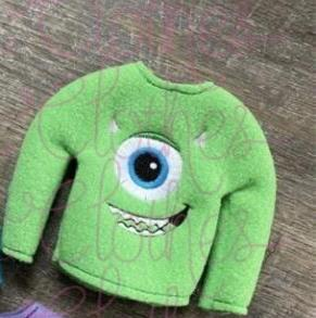 Tiny Sweater-Green Monster