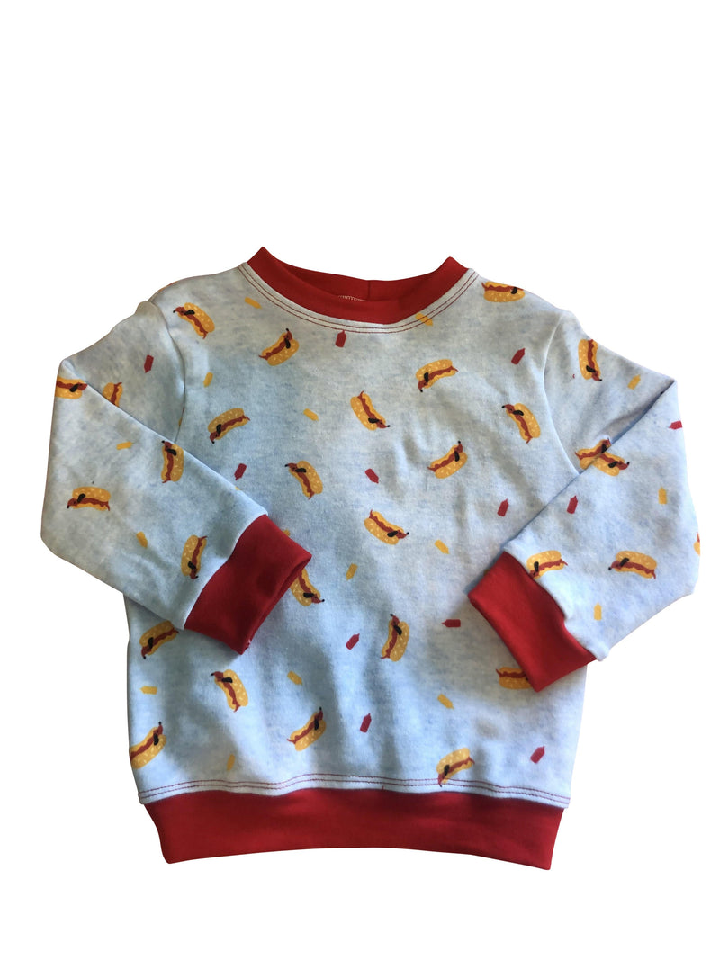 Red hot dog sweatshirt