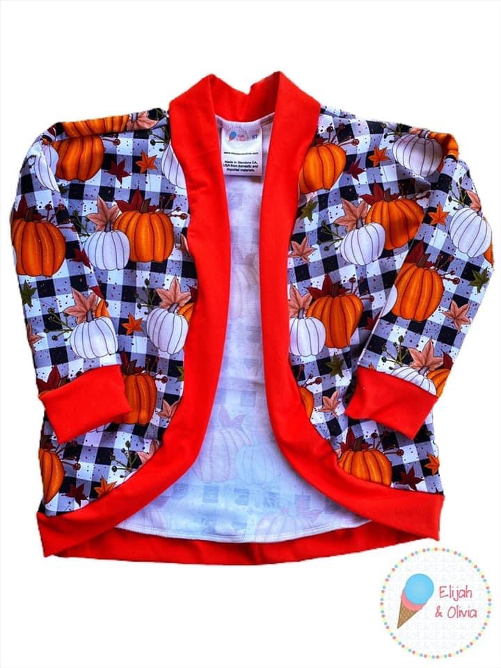 Carrie Cardigan- Pumpkins