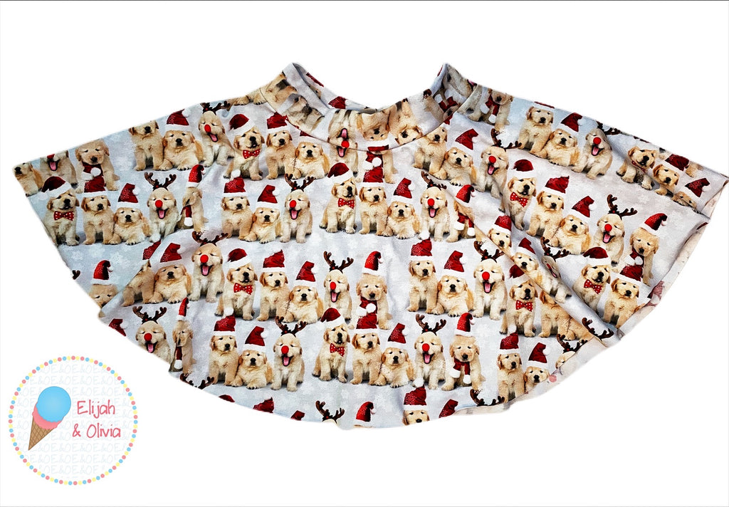 Sienna Twirl Skirt- Reindeer Doggies