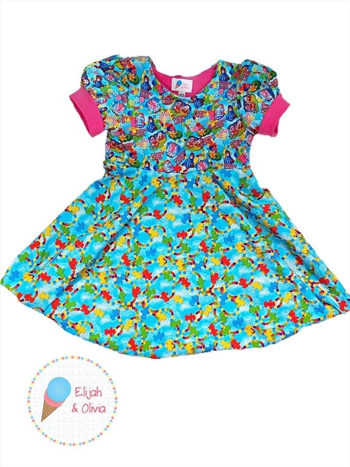 Jenny Dress closed back- candy land
