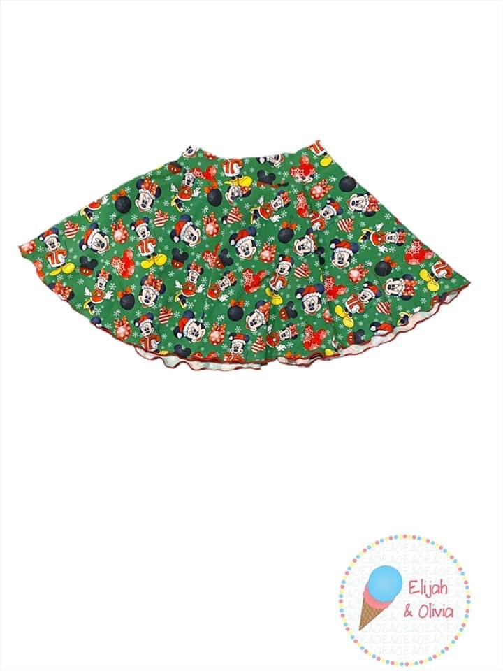 Sienna Twirl Skirt- Holiday Mickey