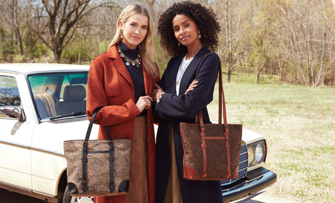 montry tote in map jacquard