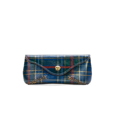 Ardenza Sunglass Case - Blue Green Tartan Plaid - Ardenza Sunglass Case - Blue Green Tartan Plaid