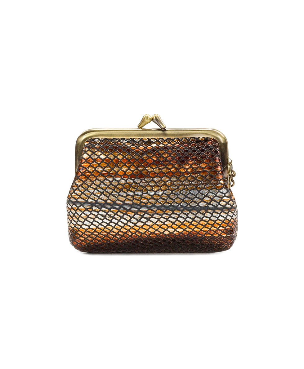 Borse Coin Purse - Metallic Snake Gold 2