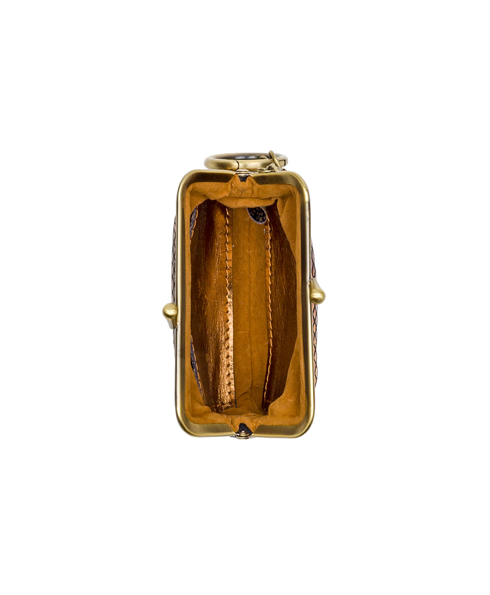 Borse Coin Purse - Metallic Snake Gold 3