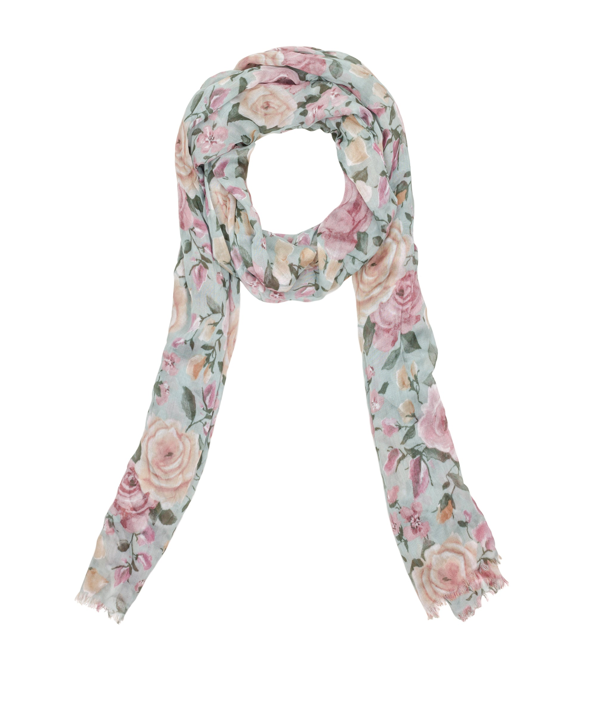 Scarf - Crackled Rose
