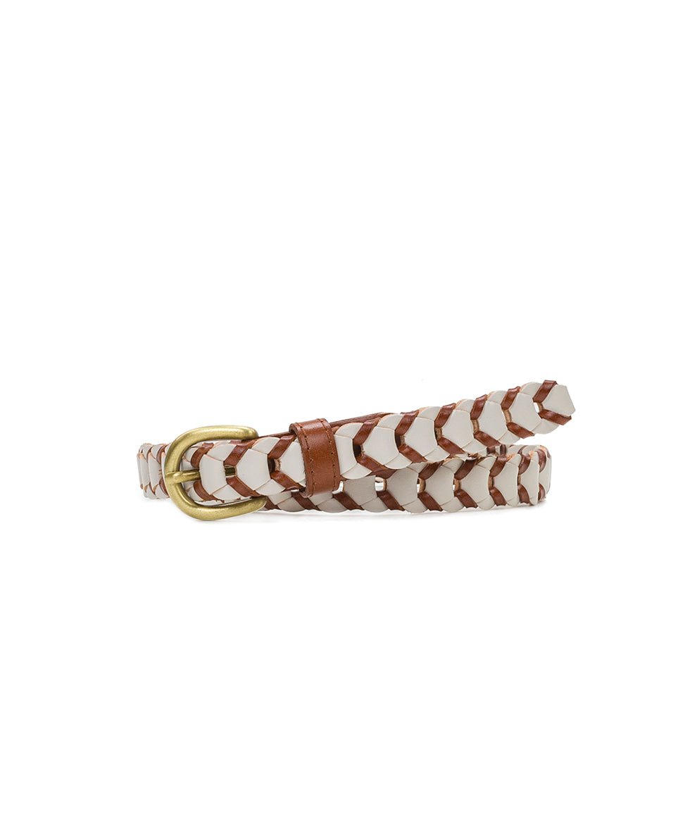 Atina Chain Link - Tan/White