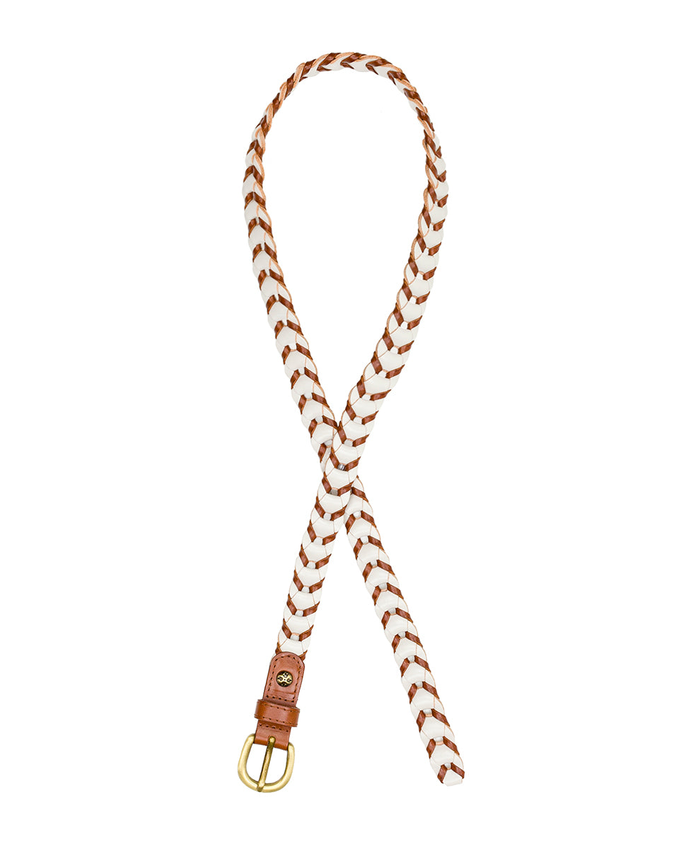 Atina Chain Link - Tan/White 2