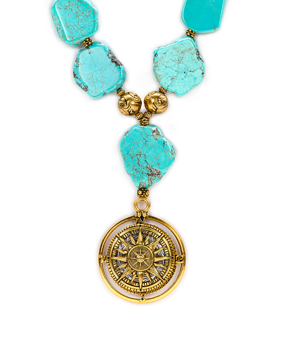 Turquoise Necklace - Compass 2