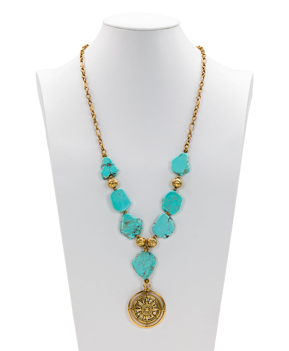 Turquoise Necklace - Compass