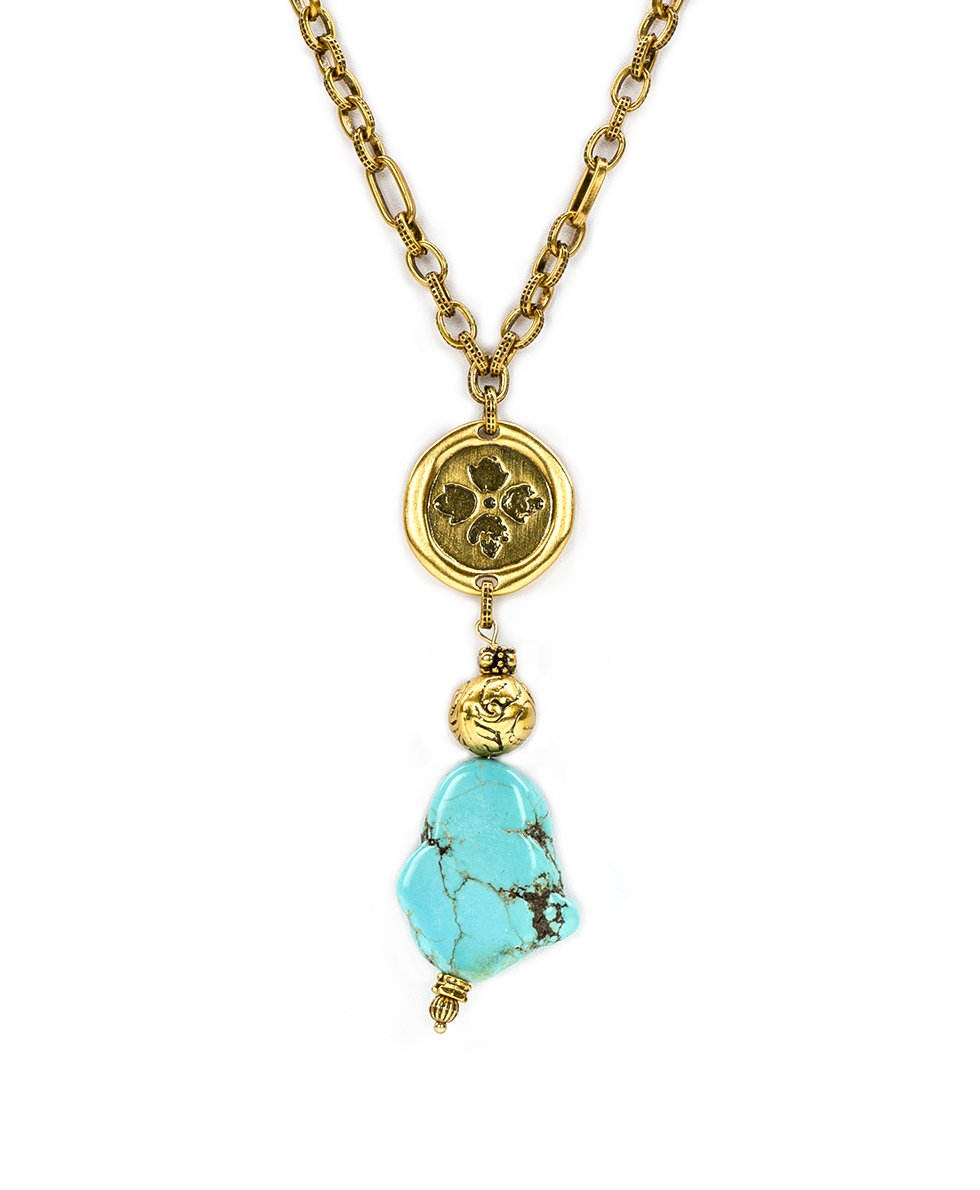 Wax Charm Stone Necklace 2
