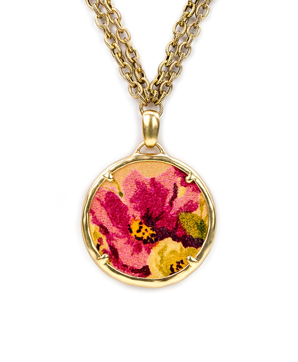 Nicolina Necklace - Antique Rose 2