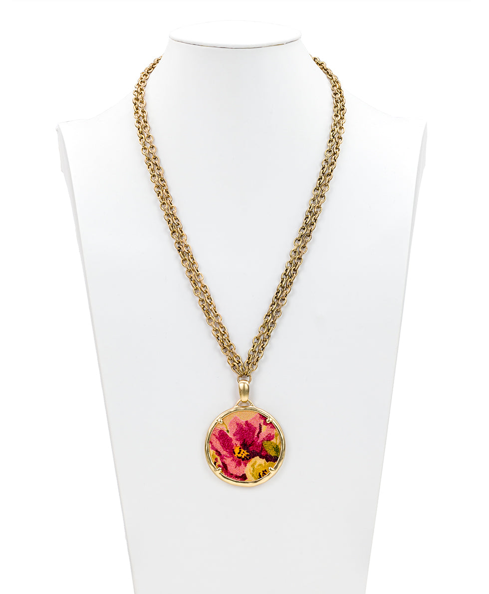 Nicolina Necklace - Antique Rose