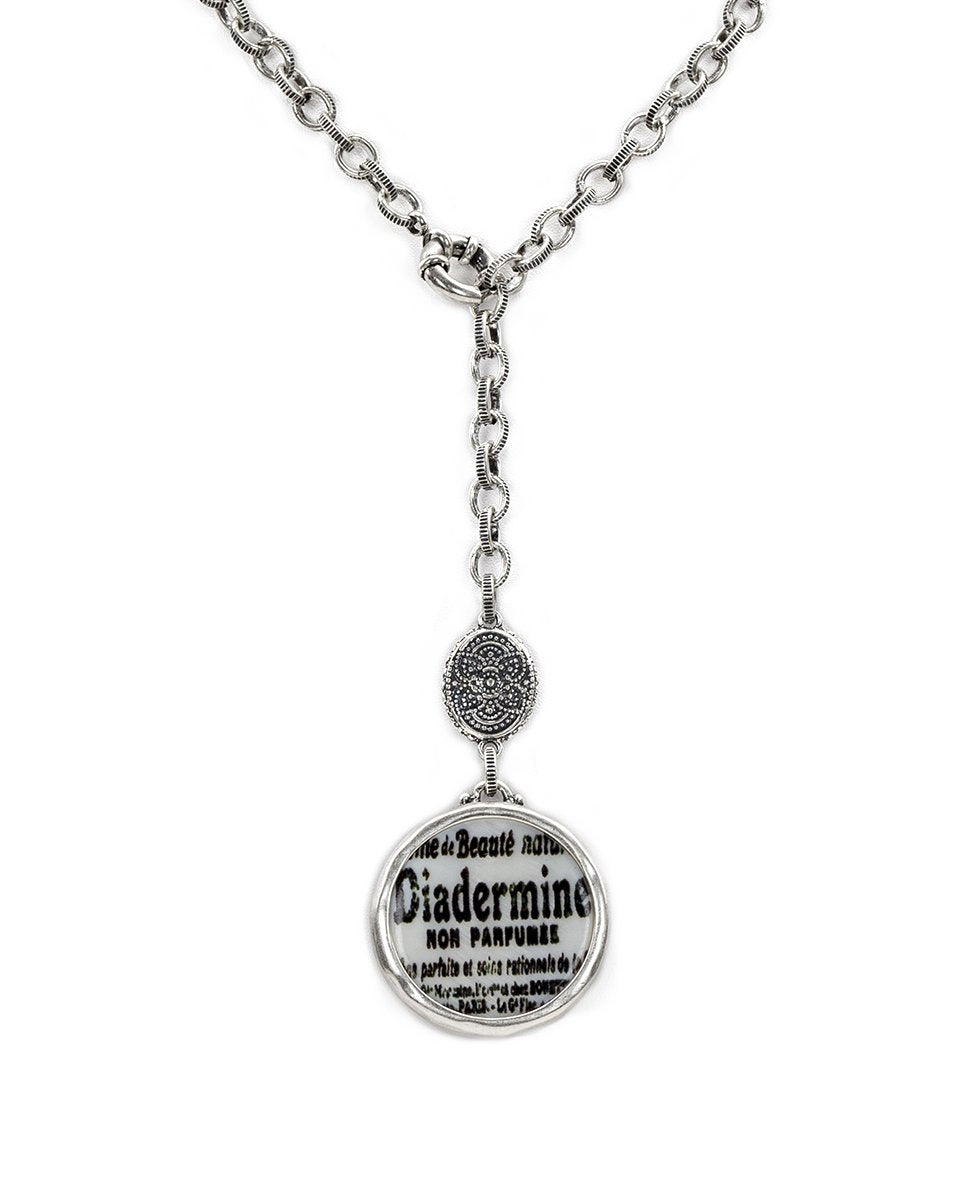 Medallion Y Necklace - Newspaper 2