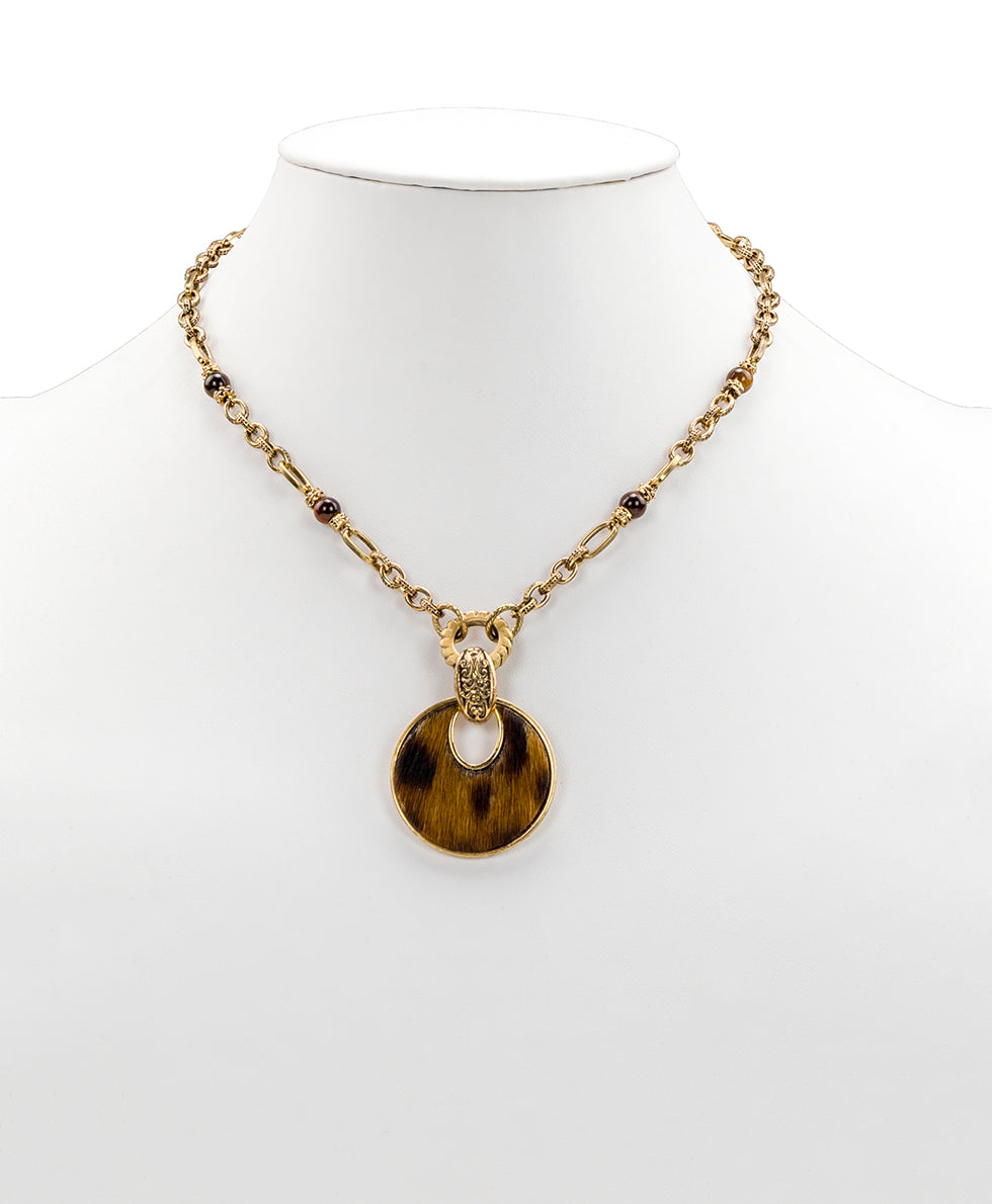 Romula Doorknocker Leopard Pendant Necklace