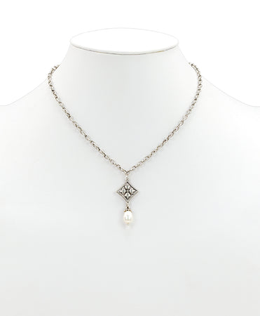 Caged Floret Pearl Necklace - Caged Floret Pearl Necklace