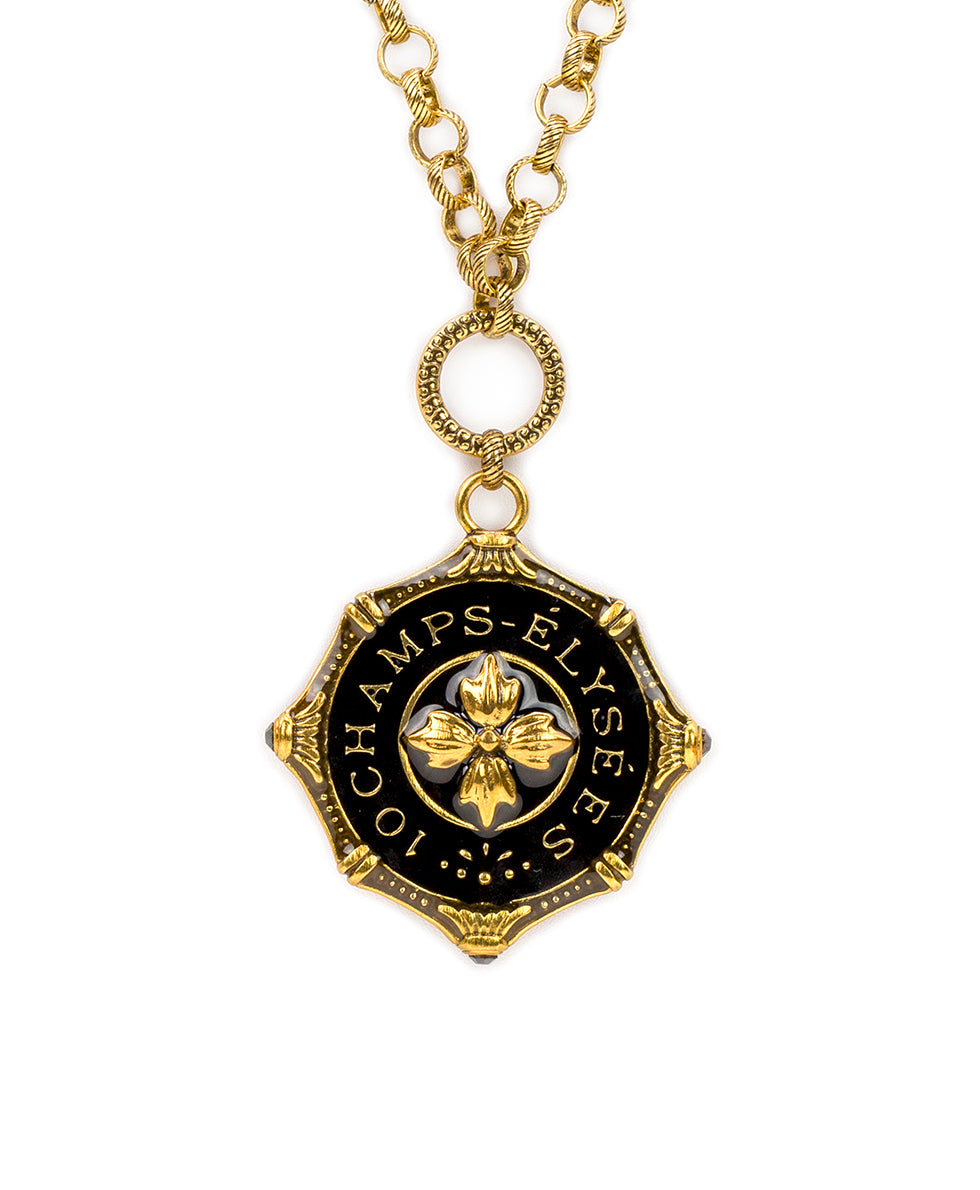 Champs Elysees Pendant Necklace - Russian Gold