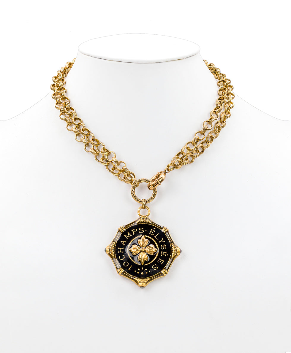 Champs Elysees Pendant Necklace - Russian Gold 2