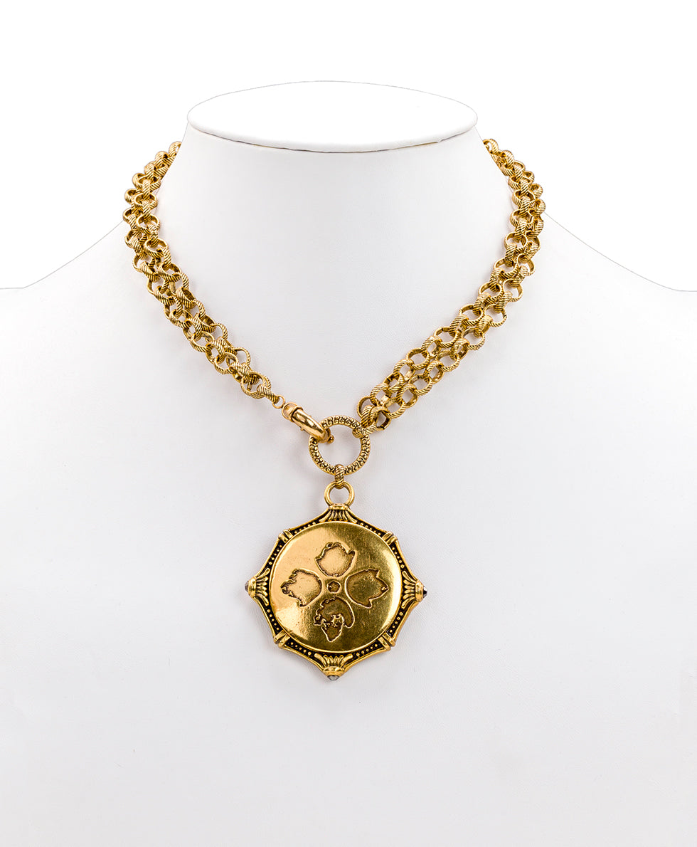 Champs Elysees Pendant Necklace - Russian Gold 3