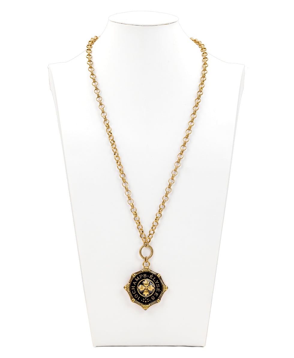Champs Elysees Pendant Necklace - Russian Gold 4