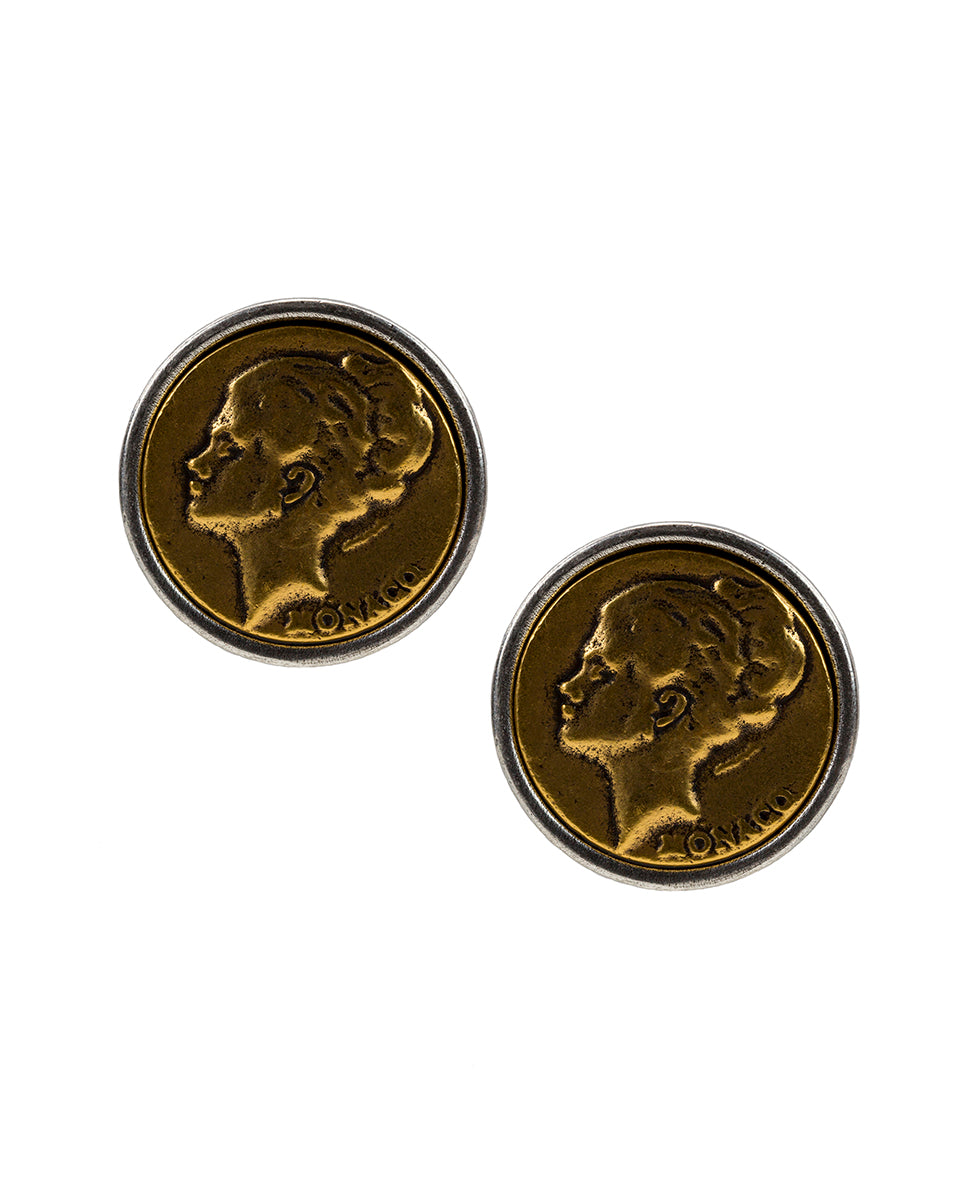 World Coin Monaco Earrings