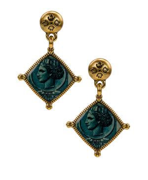 World Stamp Floret Drop Earrings