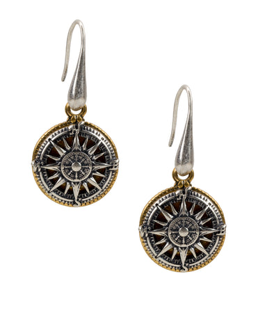 Compass Drop Earrings - Compass Drop Earrings