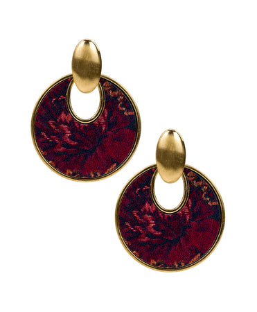 Simone Doorknocker Earrings - Fall Tapestry - Simone Doorknocker Earrings - Fall Tapestry