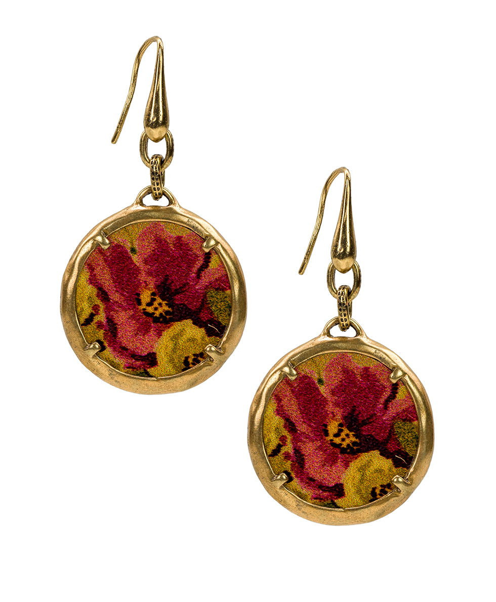 Elena Earrings - Antique Rose