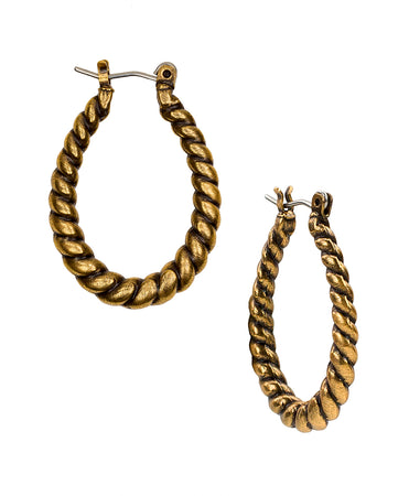 Twisted Rope Hoops - Russian Gold