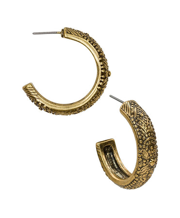 Filigree Hoop Earrings - Russian Gold